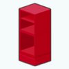 Decor - Medium Red Cabinet
