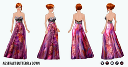 Summer - Abstract Butterfly Gown