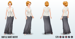 EveningSwampSpin - Ruffle Skirt Outfit