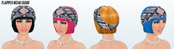 Historical - Flapper Head Scarf