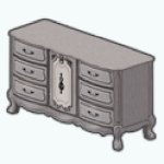 RomanticFallBedroomDecor - Wood and Iron Dresser
