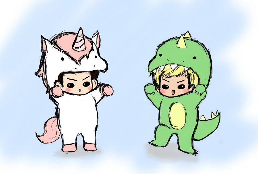 Image - Unicorns vs dinosaurs by lollypop36-d3aqa0k.jpg ...