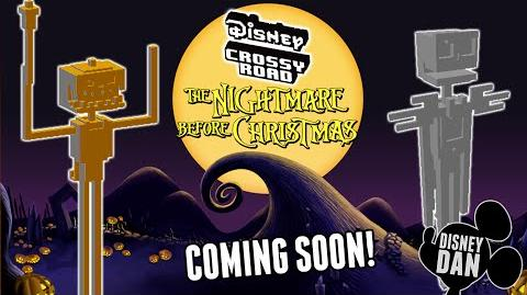 Disney Crossy Road Nightmare Before Christmas Characters and World Coming Soon!