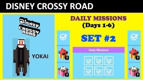Disney Cross Road Daily Missions Set -2 (Unlocking Yokai, Missions Lists)