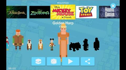 Golden Harp Finding Dory Update Mickey and Friends Disney Crossy Road secret character unlock