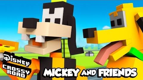 Disney Crossy Road The Animated Series Goofy and Pluto
