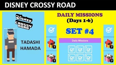 Disney Crossy Road Daily Missions Set -4 (Unlocking Tadashi Hamada, Missions Lists)
