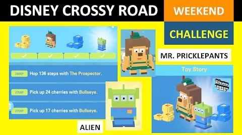 Disney Crossy Road Weekend Challenge Toy Story (Alien, Mr