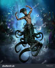 Stock-photo-a-beautiful-sea-witch-with-tentacles-for-legs-deep-in-the-ocean-with-bubbles-all-around-her-124087249