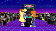 Judy Herrison in the video arcade (13)