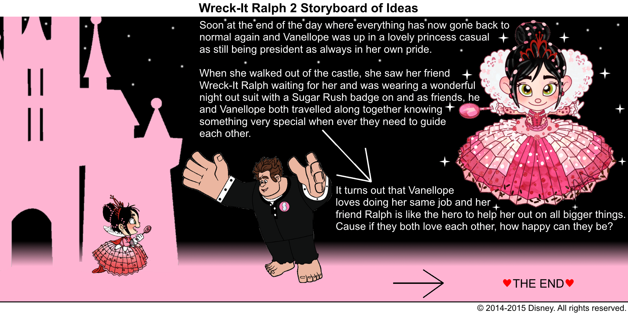 Best Lines From Wreck It Ralph 2: Wreck-It Ralph 2 Storyboard Of Ideas 52 (Final
