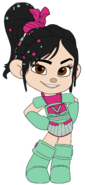 Vanellope in her Ballistic Armour