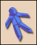 Blue Paper Doll
