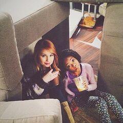 Debby And Skai Take Yumi milkshake From Behind The Scenes