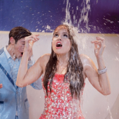 Jessie getting soaked