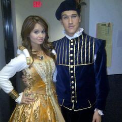Debby ryan and Ben Bledsoe on behind the scenes