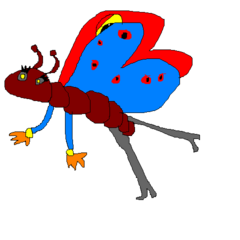 Rocket turned into a butterfly