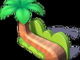 Palm Tree Bench