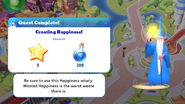 Q-creating happiness