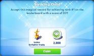 Me-striking gold-43-prize