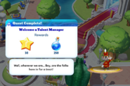 Q-welcome a talent manager