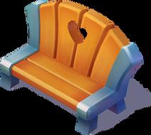 D-wooden heart bench