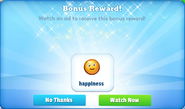 Happiness-bonus reward