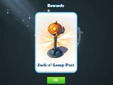 Jack-O-Lamp Post