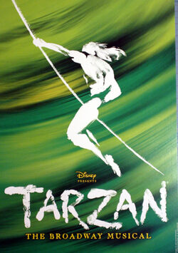 Tarzan musical Broadway Poster