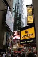 Il Re Leone Insegne in Time Square