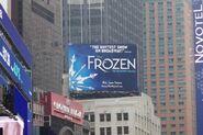 Frozen broadway musical billboard