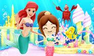 Ariel Flounder Sebastian and Mii - DMW2
