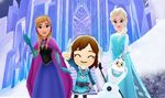 Anna Elsa Olaf and Mii - DMW2