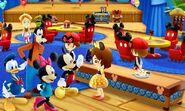 DMW2 - Mickey and Friends at the Cafe