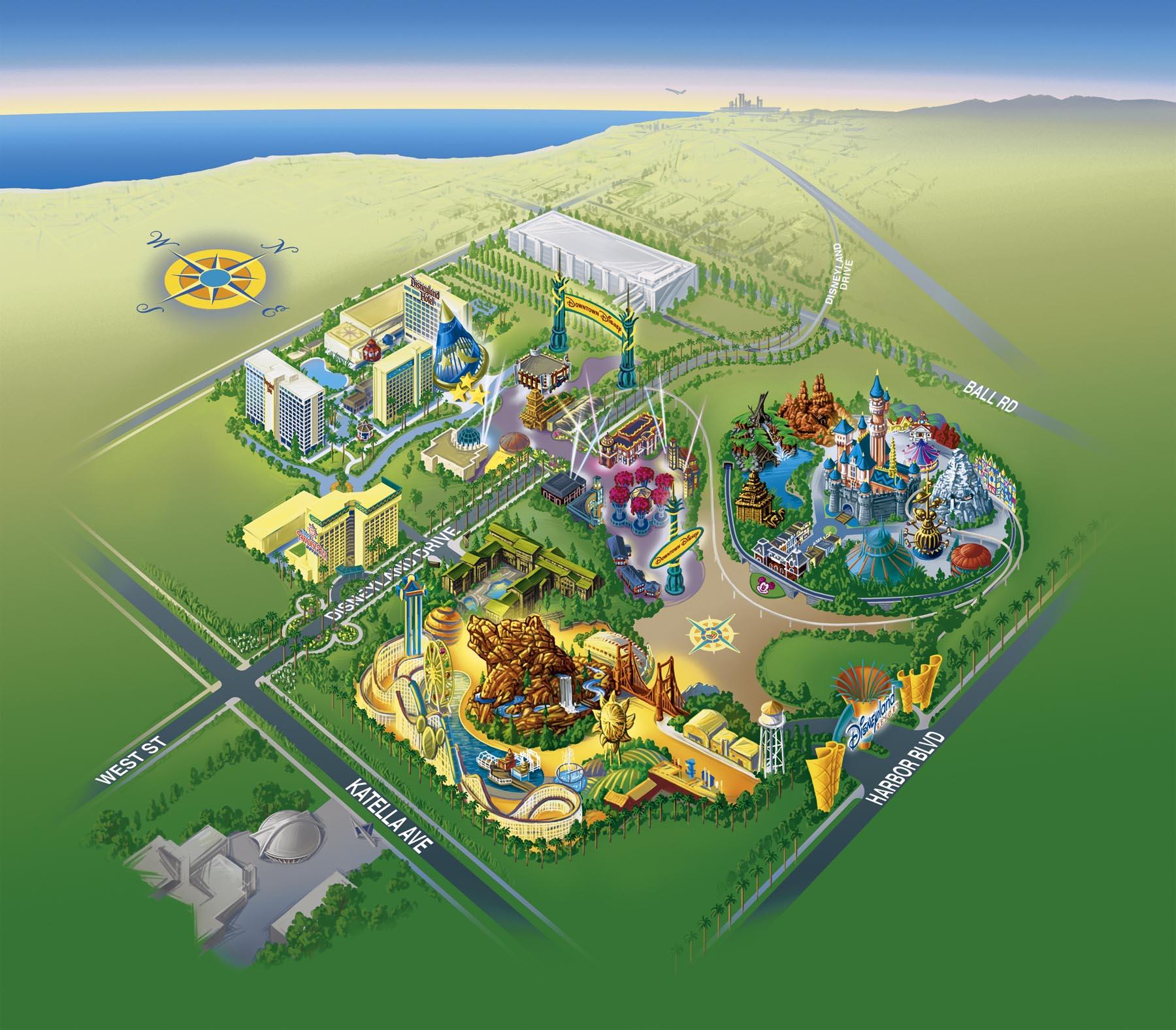 image relating to Printable Disney Park Maps identify Disneyland Vacation resort Disney Parks Wiki FANDOM run through Wikia
