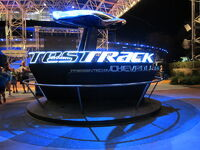 Test Track attraction sign