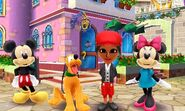 Mii meets Mickey Minnie and Pluto