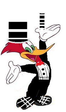 Woody Woodpecker's magic outfit consption art
