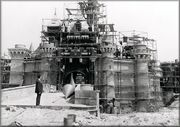 Disney castle in construction