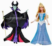 Disney-sleeping-beauty-signature-dolls-classic-collection-coleccion-muñecas-mattel-la-bella-durmiente-malefica-aurora-blue-dress-traje-azul-barbie-2014-diamond-diamante-edición