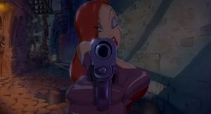 Jessica prestes a atirar