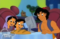 Aladdin&Children-DiningGoofy