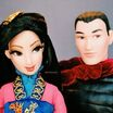 Disney fairytale couples collection doll muñecas disney store 2014 parejas princess princesas heroes princes principe mulan li shang