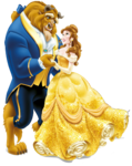Belle and enchanted prince