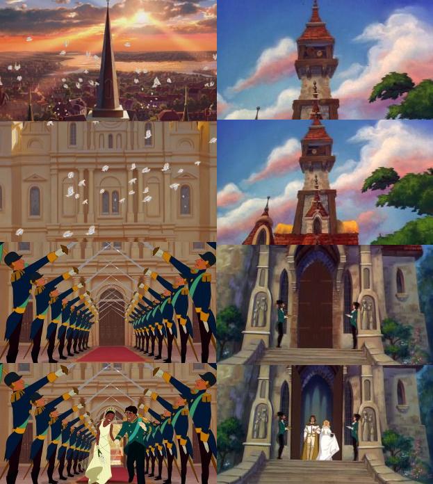 Image - Swan Princess VS Princess and the Frog wedding scene.png ...