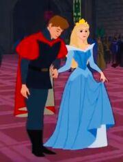 Aurora's blue gown