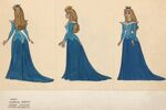 Aurora Blue Dress Concept Art