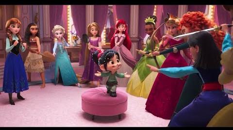 Vanellope Meets the Disney Princesses Part 1 😂 Ralph Breaks The Internet Scene