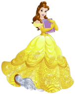 Belle with a book