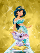 Princess jasmine and taj 2 by unicornsmile-d9hrd7e